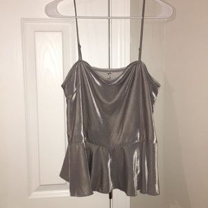 FREE PEOPLE intimates velvet top